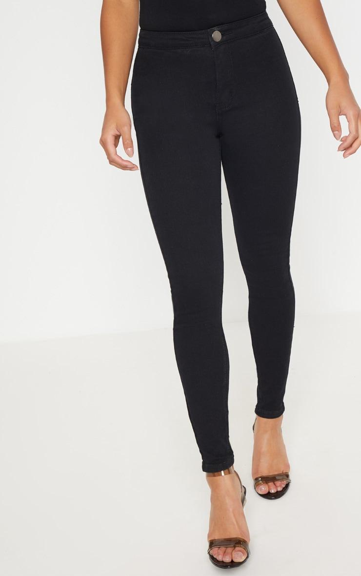 Petite Black High Rise Skinny Jeans 5