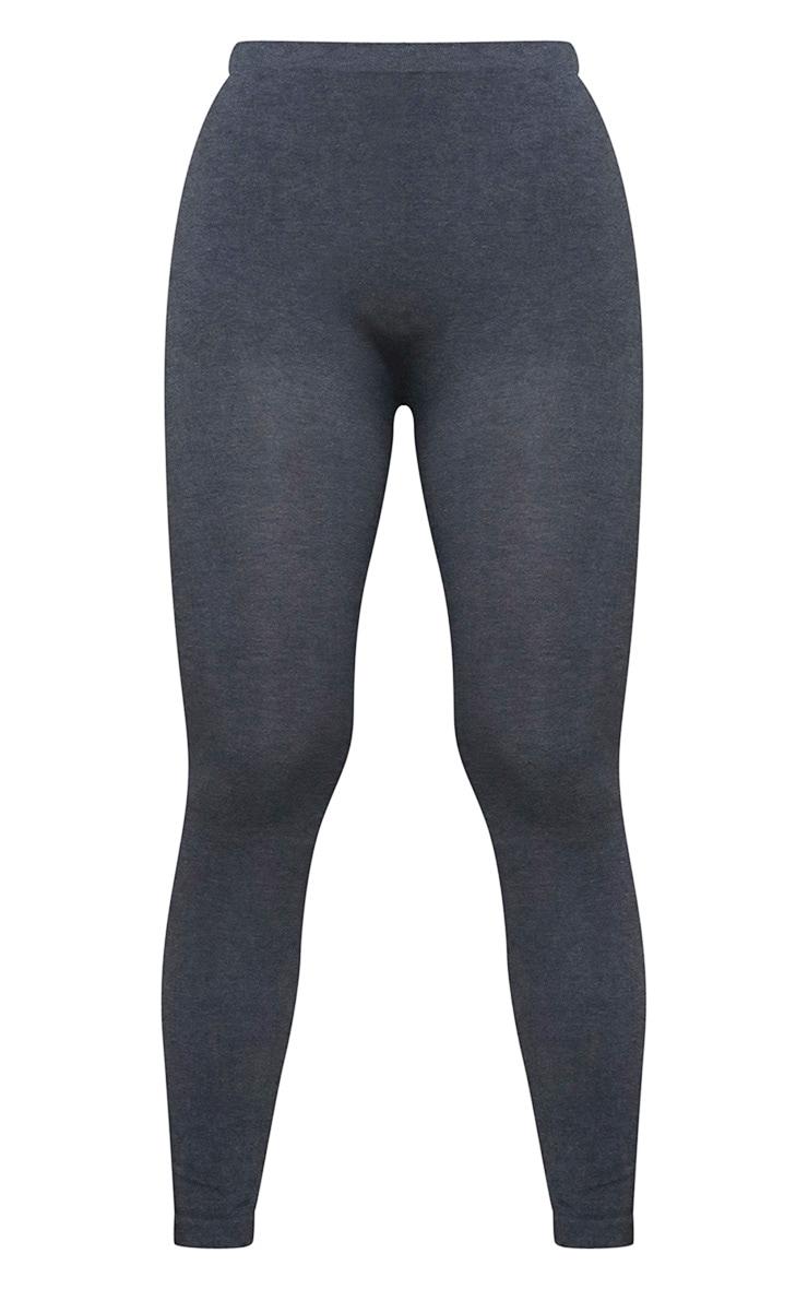 Charcoal Basic Gym Leggings 5