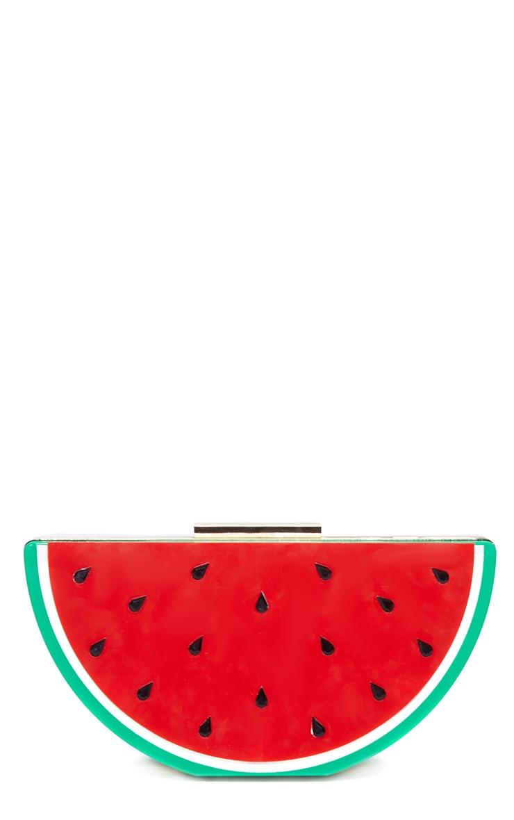 Lorian Red Watermelon Clutch 3