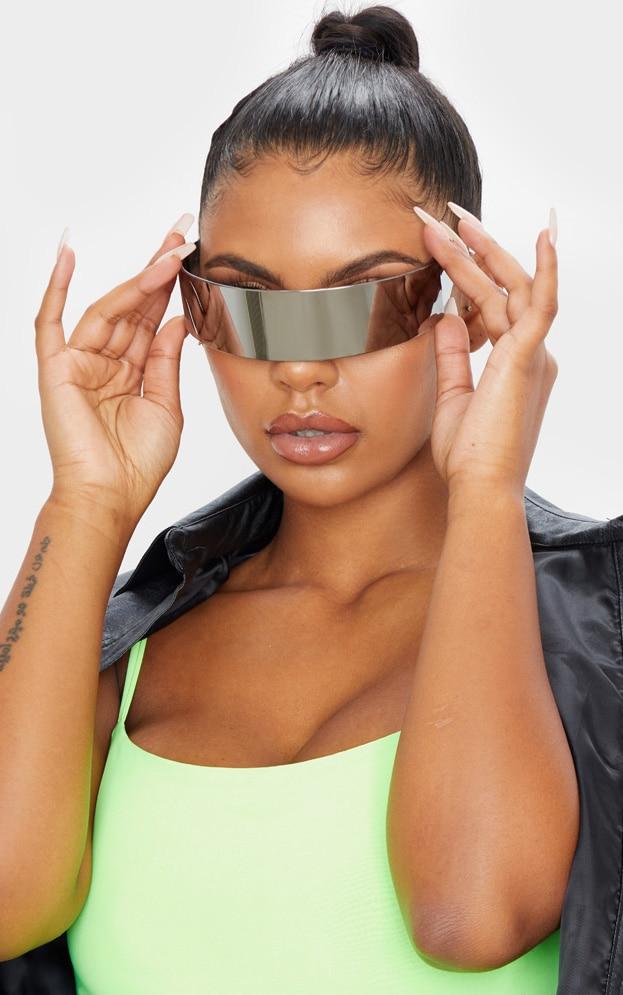 Silver Revo Shield Visor Sunglasses 1