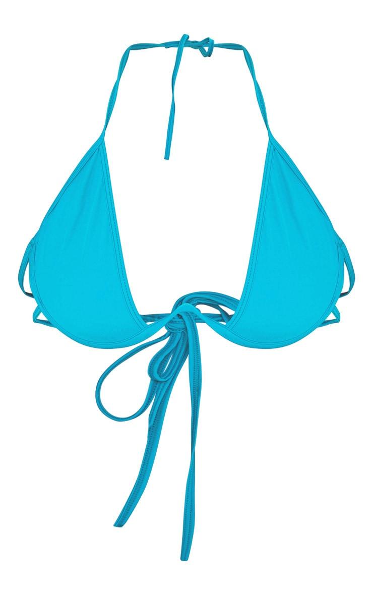Teal Cleavage Wire Bikini Top 4