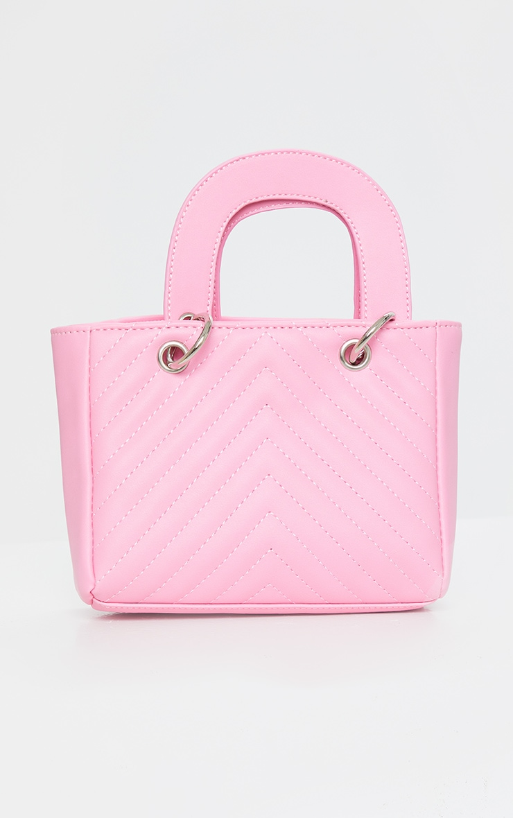 Pink Chevron Quilted Grab Bag 2