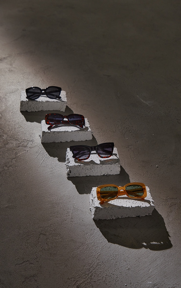 A.Kjaerbede Big Kanye Black Sunglasses 3