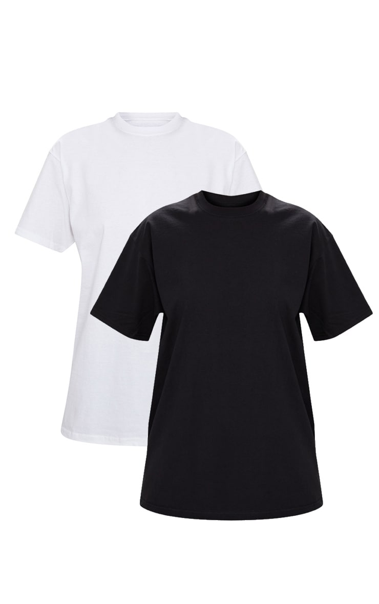 Black & White 2 Pack Ultimate Oversized T Shirt  3