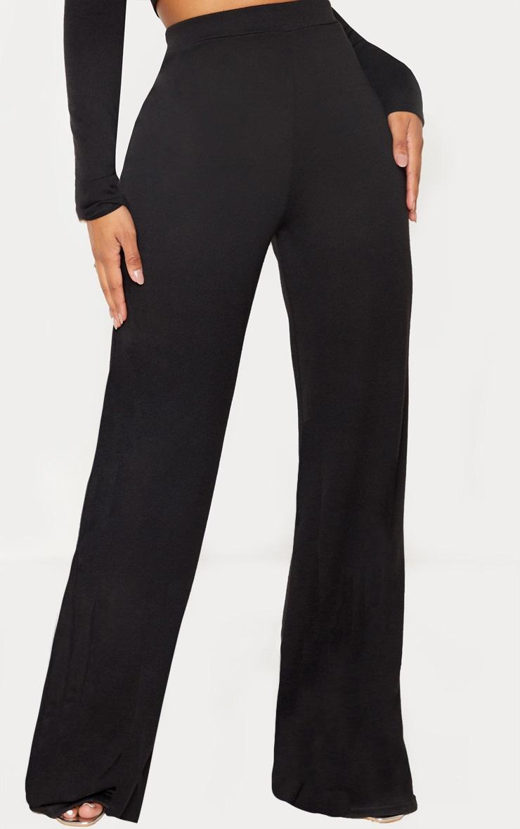 Shape Black Knit Wide Leg Pants 2