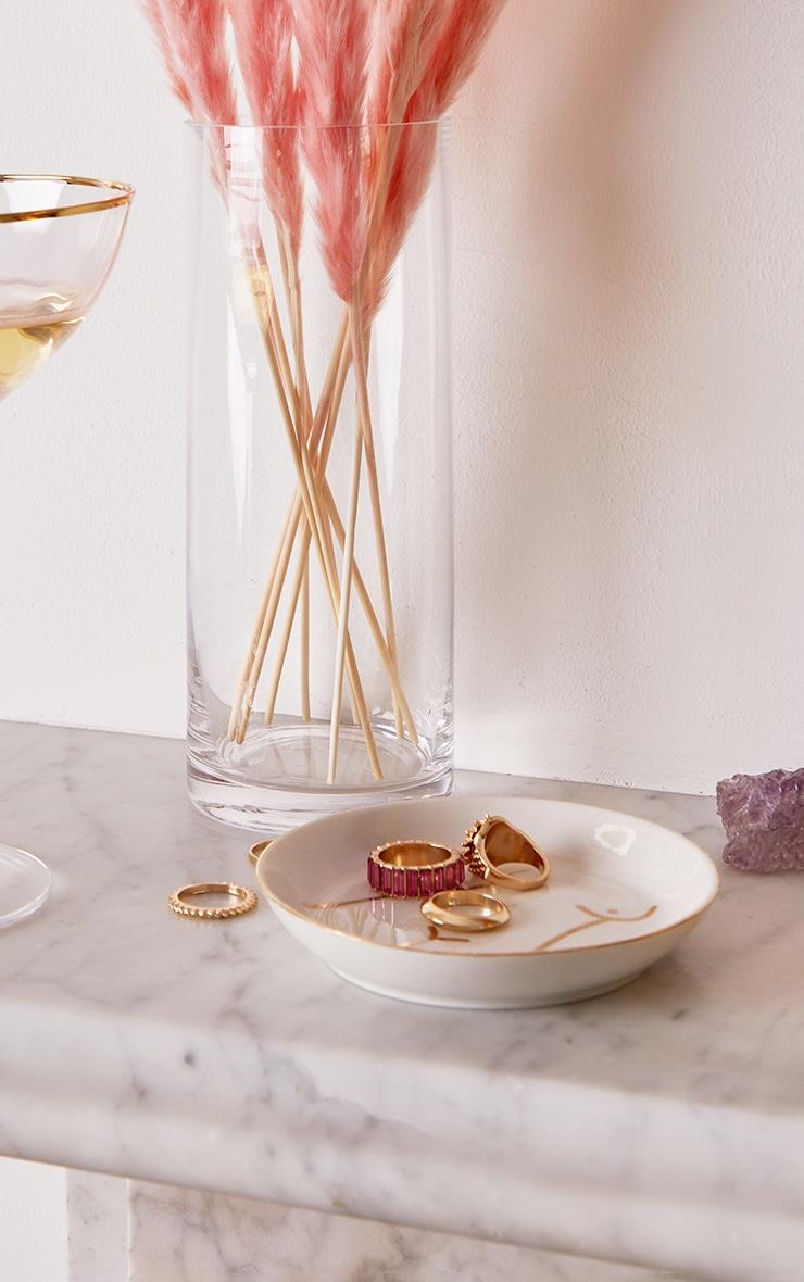 White Abstract Torso Trinket Dish 1