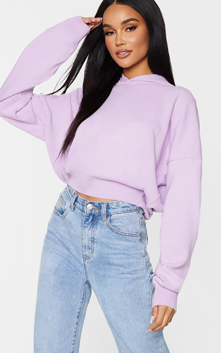 Lilac Knitted Oversized Hoodie 3