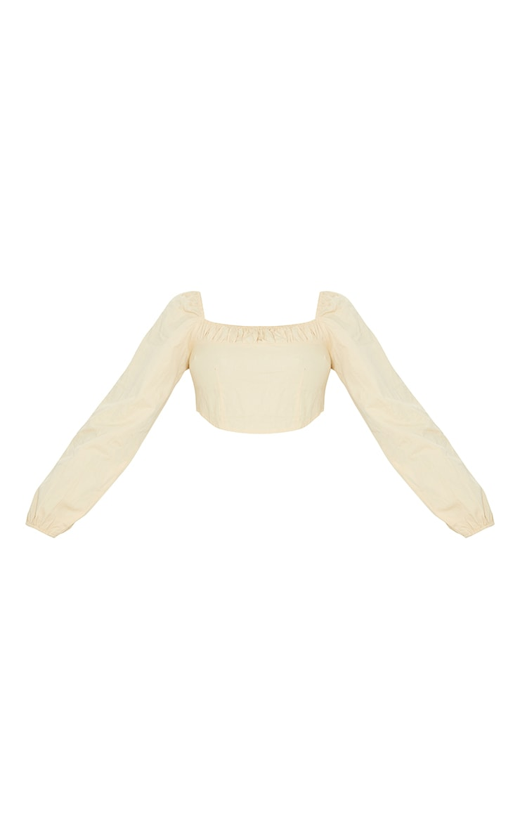 Tall Stone Corset Detail Long Sleeve Cropped Blouse 5