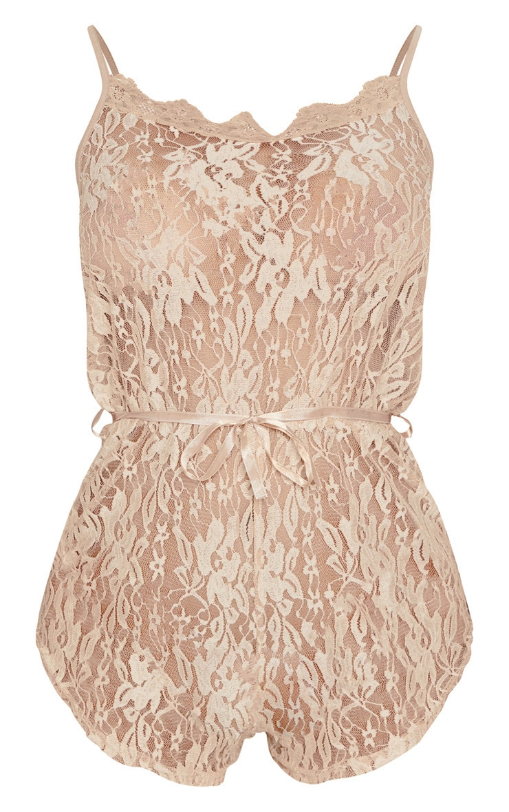 Champagne Lace Teddy  3