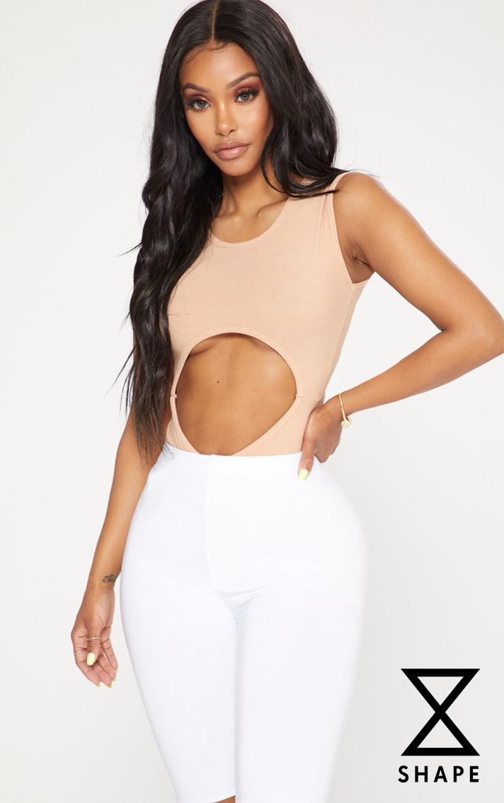 Shape Taupe Cut Out High Rise Bodysuit