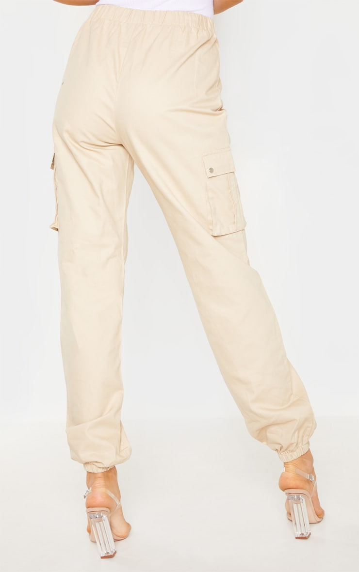 Tall Cream Pocket Detail Cargo Pants 4