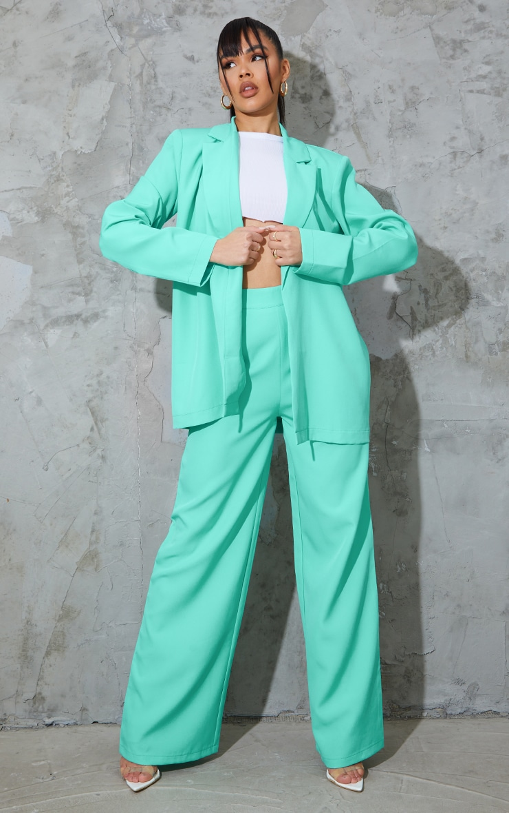 Teal Oversized Blazer 3