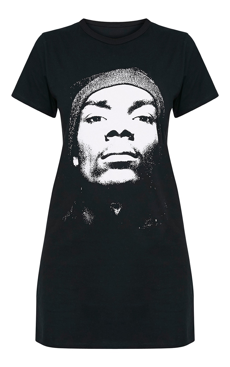 Snoop Dogg Black T Shirt Dress 3