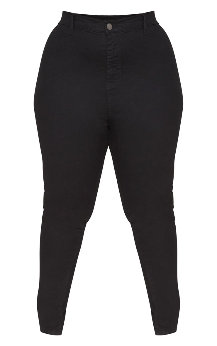 Plus Black High Waist Skinny Jeans 3