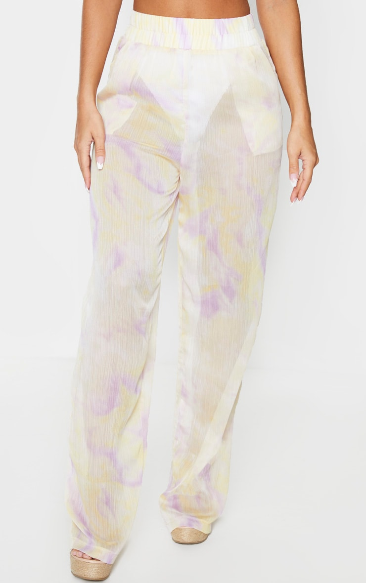 Lilac Tie Dye Wide Leg Beach Pants 2