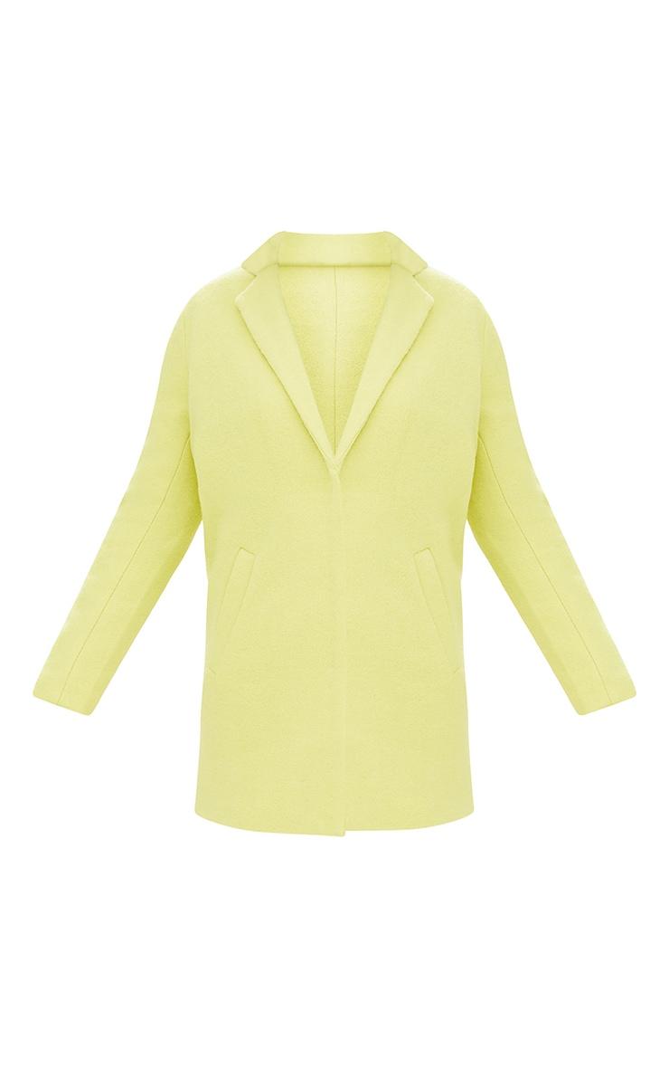 Lime Wool Coat 3