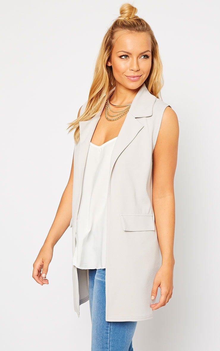 Riti Grey Sleeveless Blazer 4