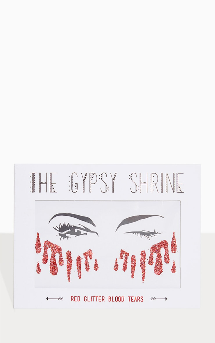 The Gypsy Shrine Red Glitter Sticker 1