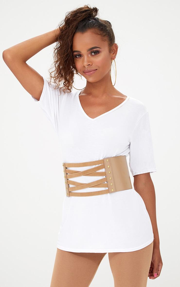 Brown Bandage Corset Belt 1