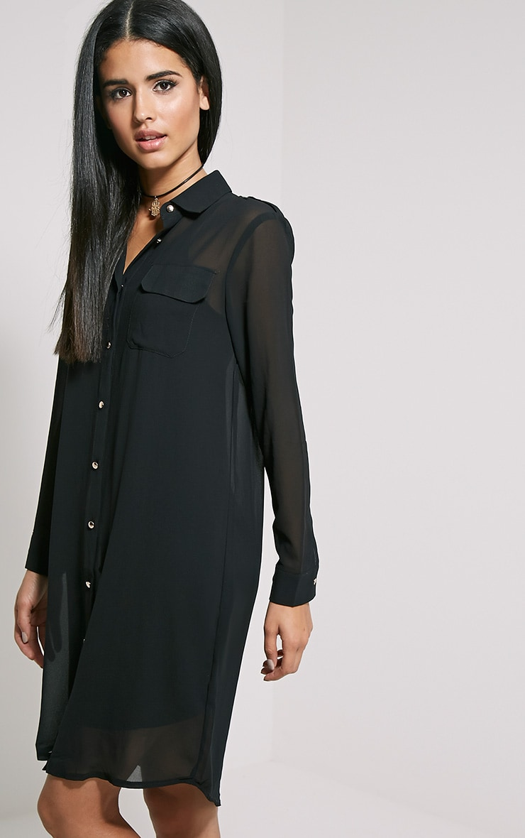 Loren Black Sheer Shirt 4