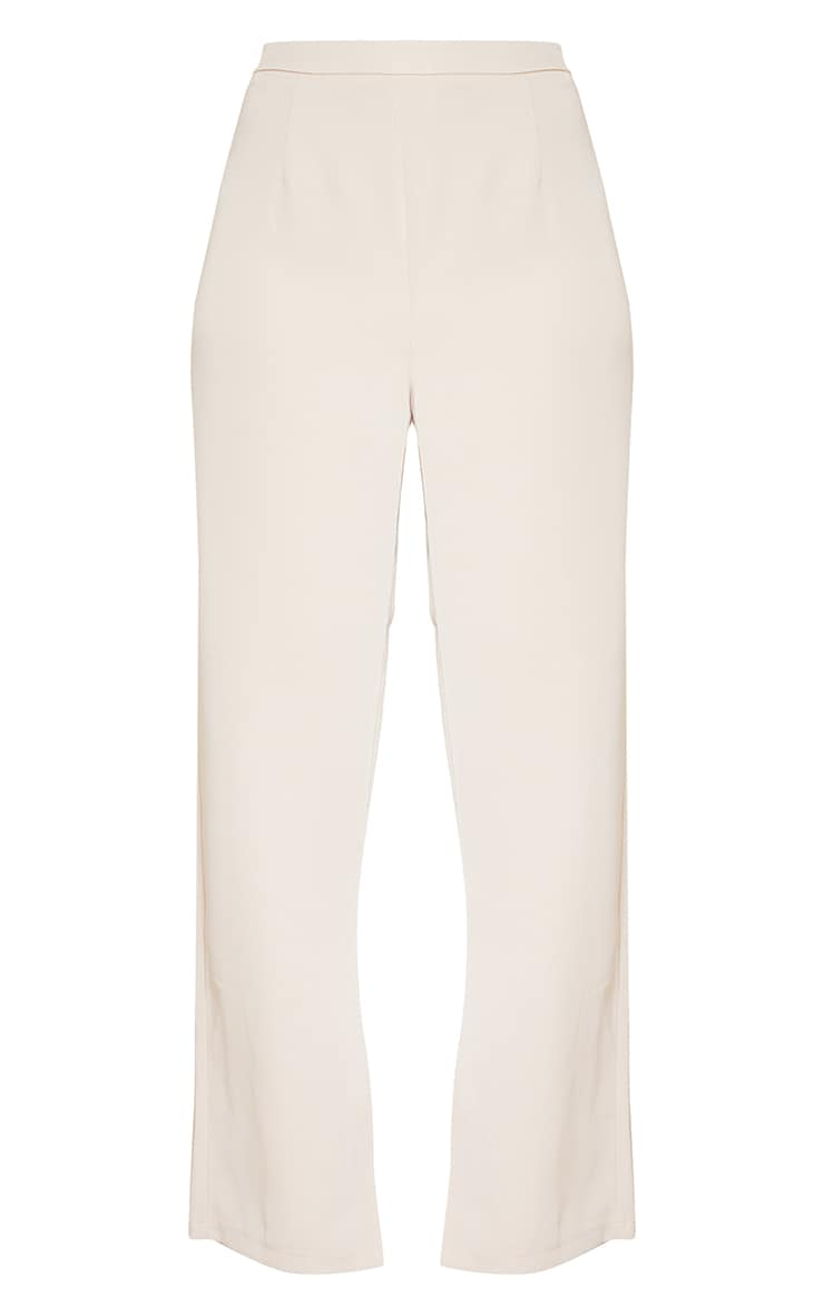 Stone Woven Tailored Straight Leg Trousers 5