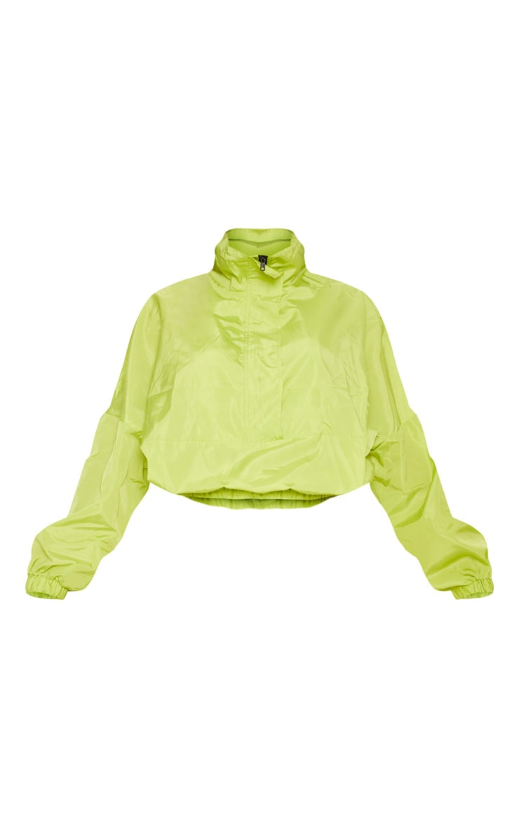 Neon Lime Oversized Windbreaker  3