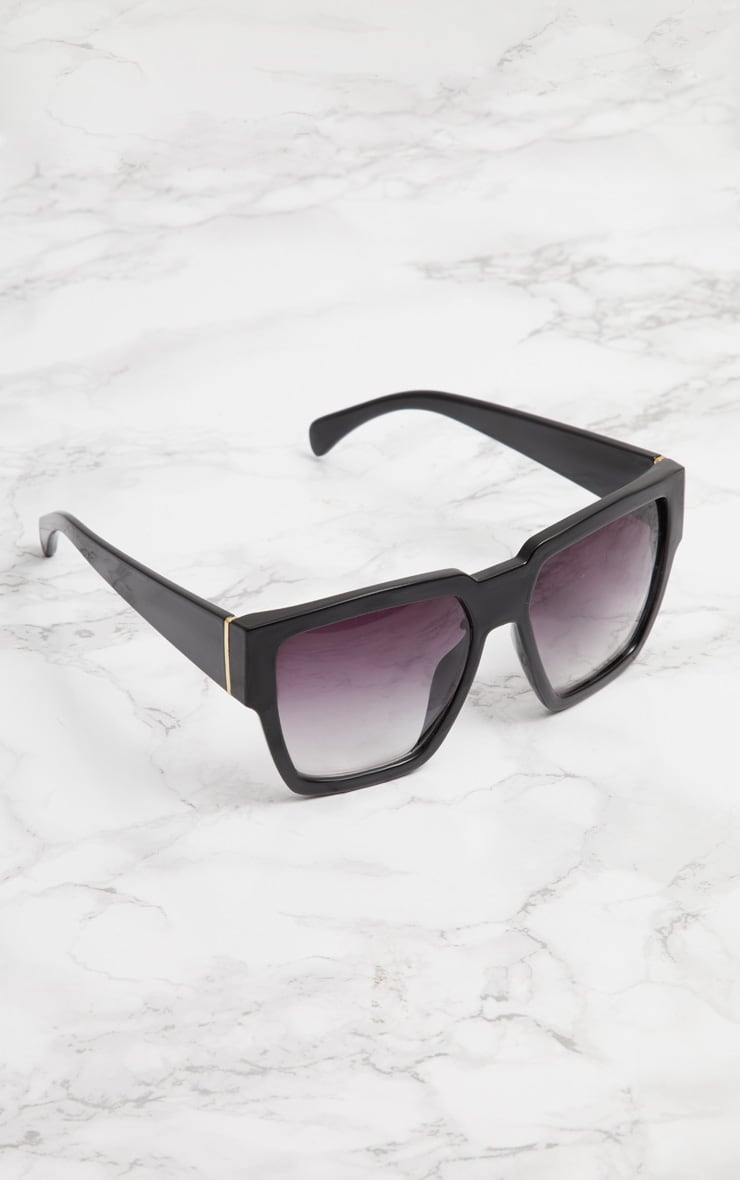 Black Oversized Square Sunglasses 2
