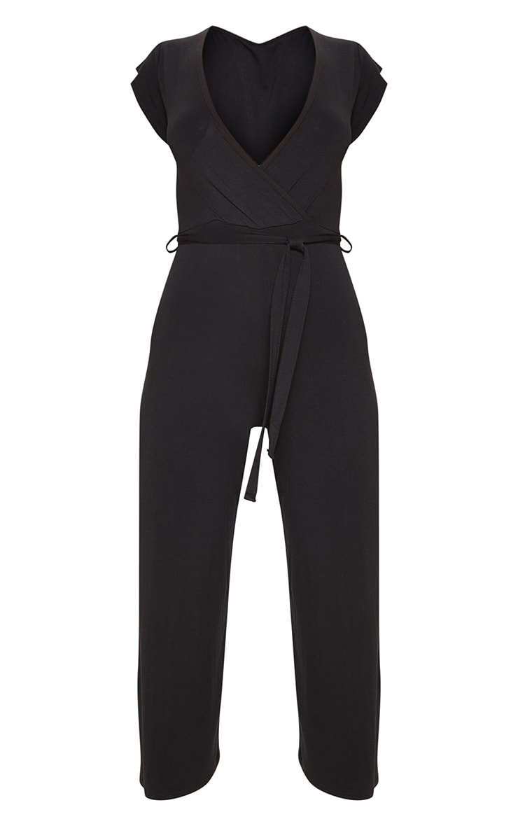 Black Wrap Culotte Jumpsuit 3