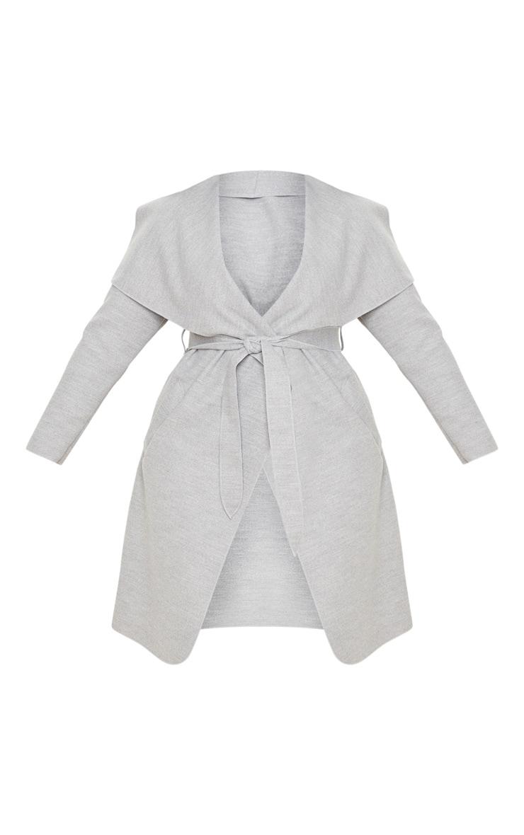 PLT Plus - Manteau gris effet cascade 3
