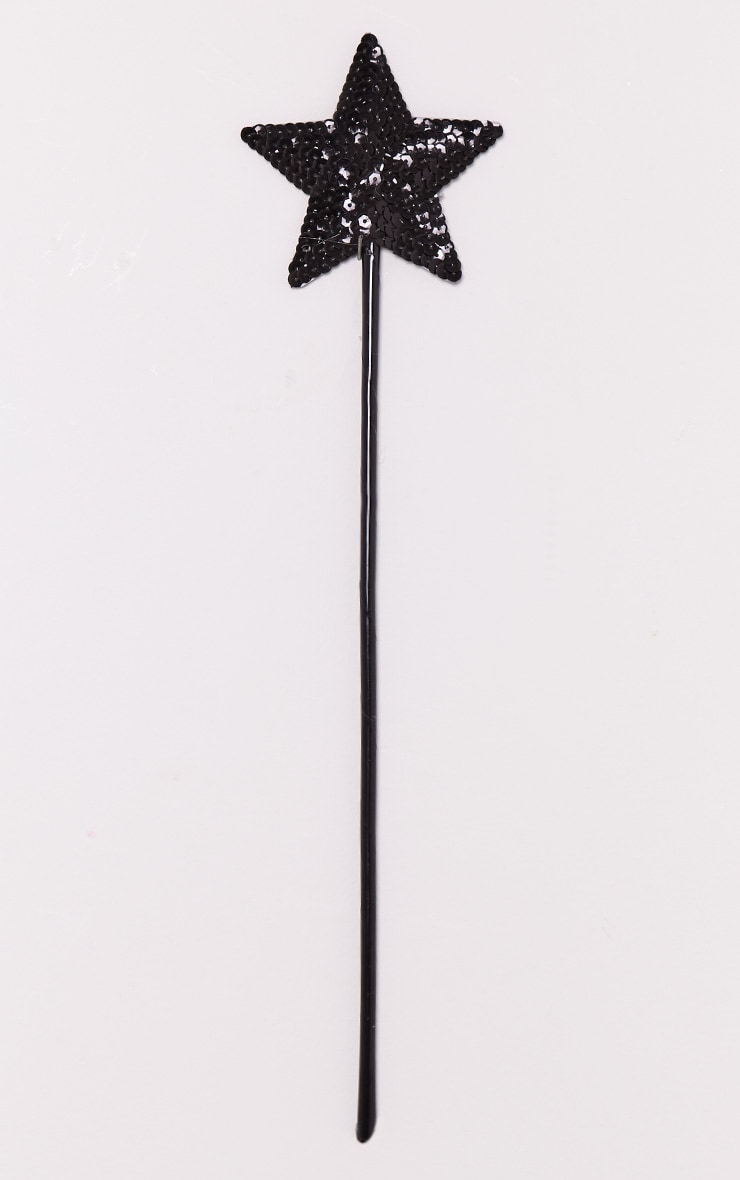 Black Sequin Star Wand 2