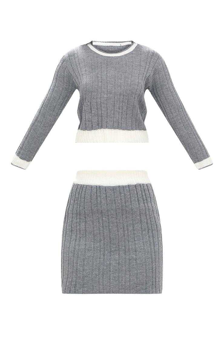 Grey Tipped Skirt Set 3