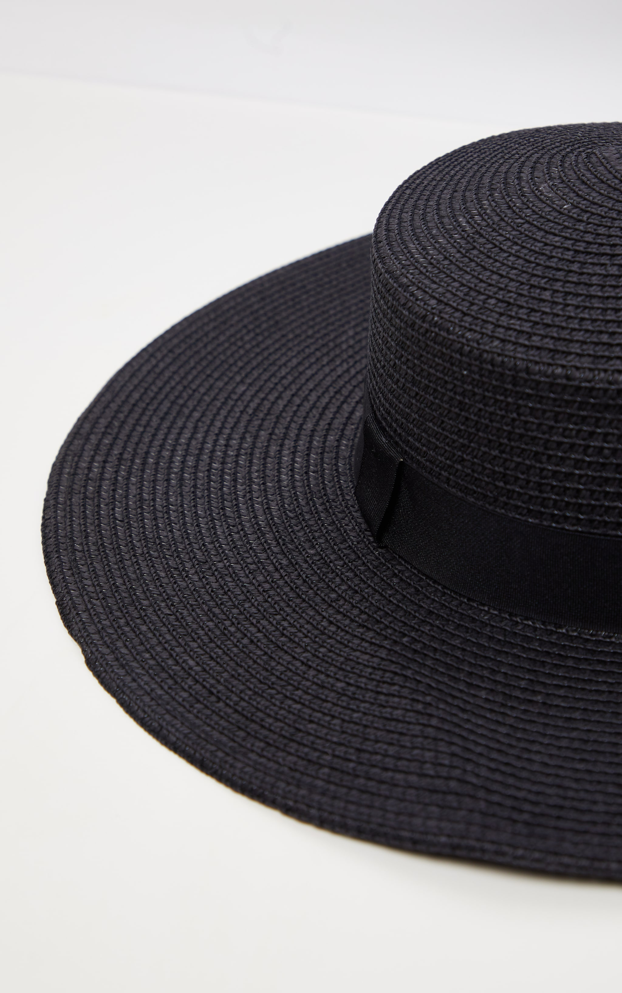 Black Straw Sun Hat 2