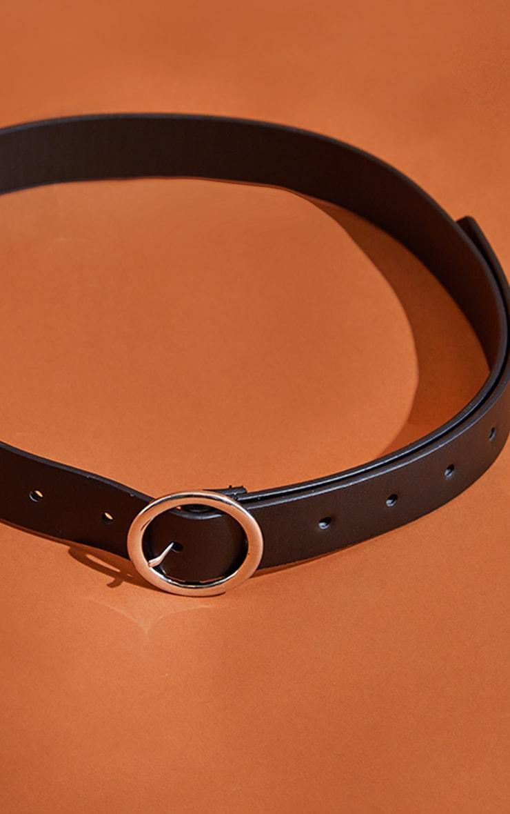 Black Basic Circle Buckle Belt 2