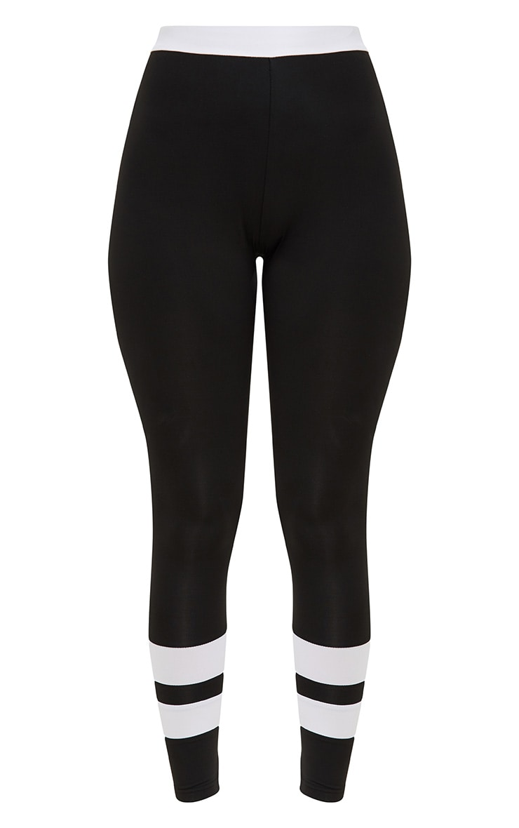Black Contrast Leggings 3