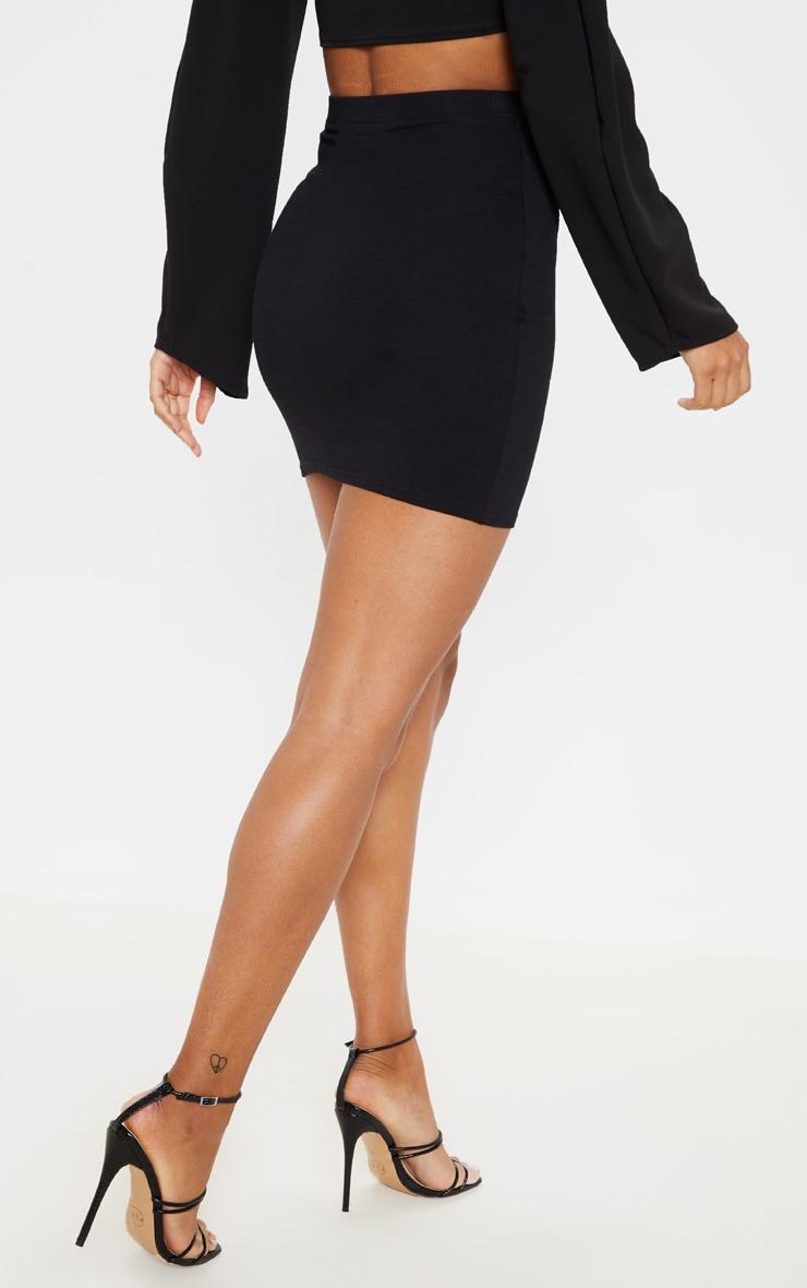 Black Ultimate Jersey Mini Skirt 4