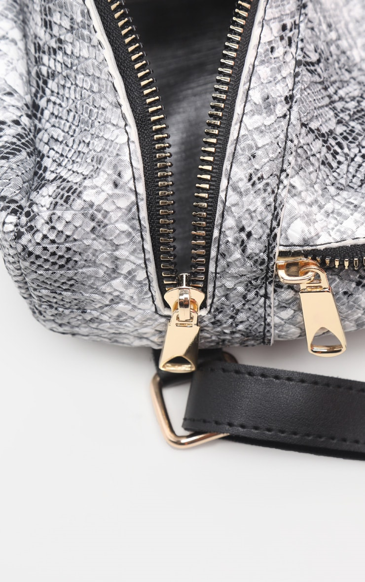 Grey Snake Mini Backpack 5