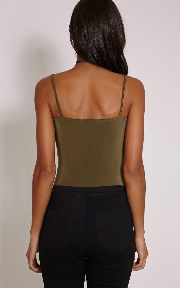 Kiya Khaki Strap Detail Bodysuit 2