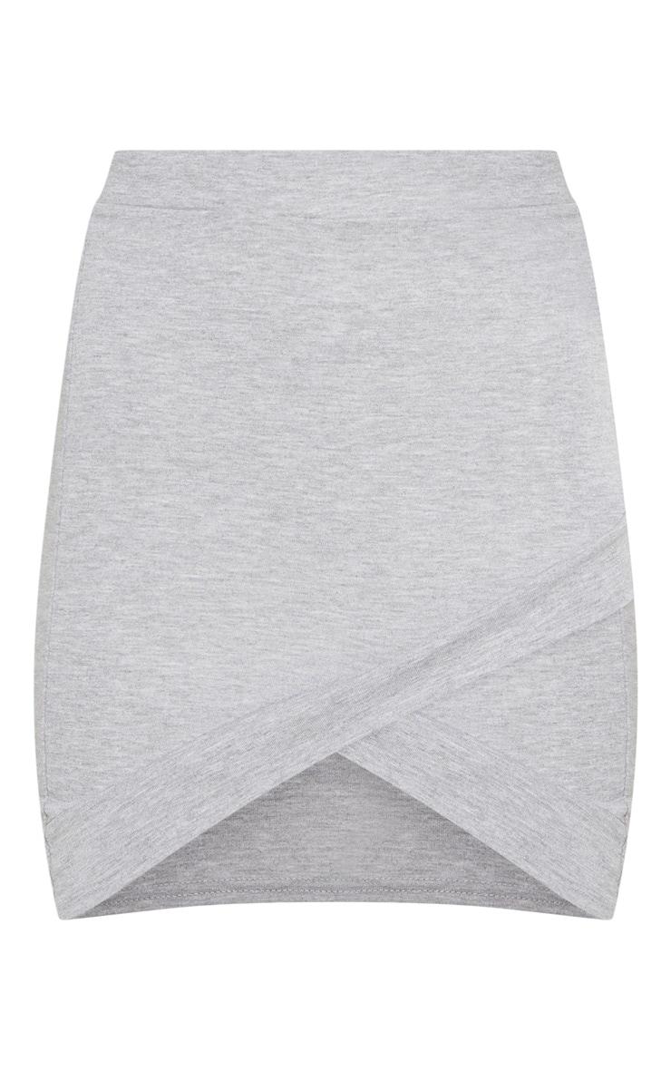 Basic minijupe asymétrique grise 3
