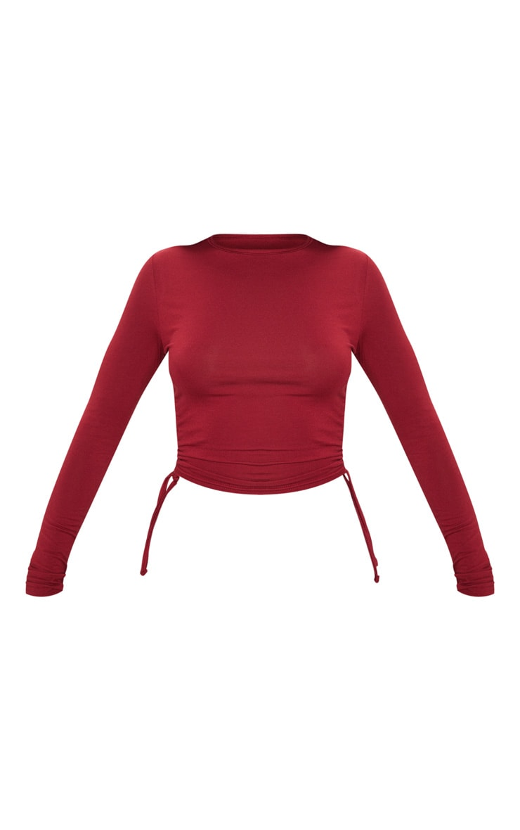 Scarlet Jersey Ruched Side Long Sleeve Top 3