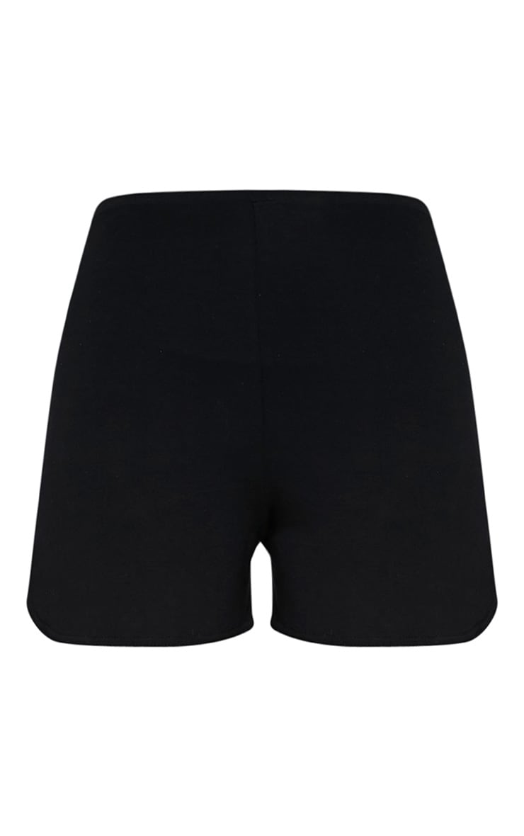 Basic Black Jersey Runner Shorts 3