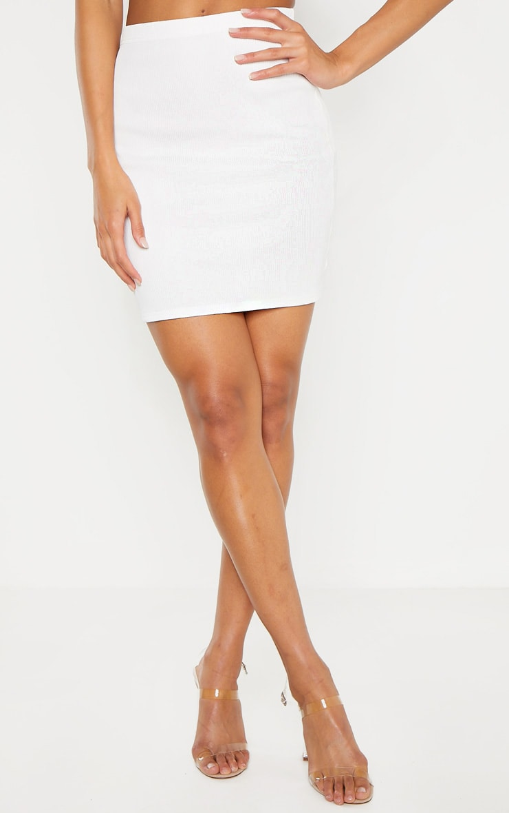 White Cut Out Sleeve Bodycon Dress 2
