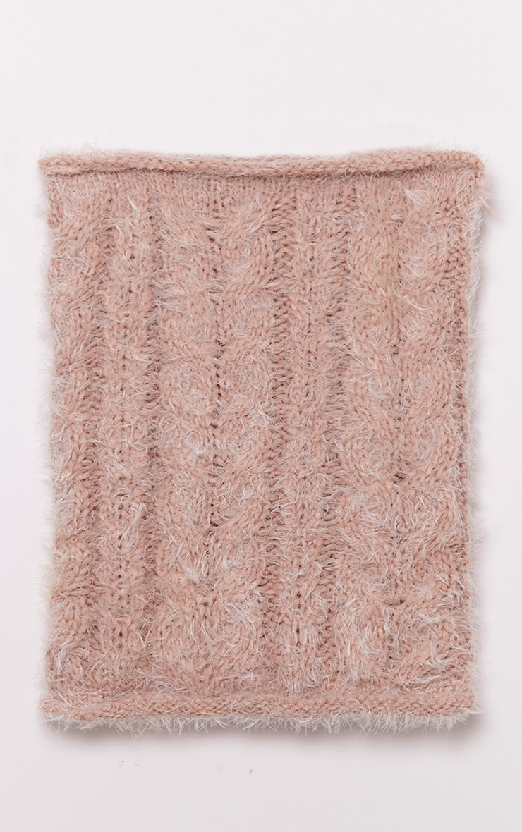 Two Pack Blush Knitted Beanie and Snood 4