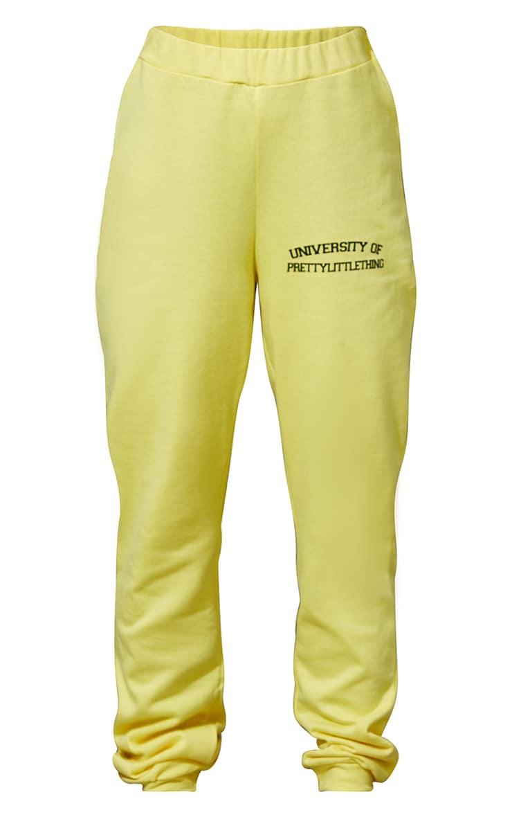 PRETTYLITTLETHING Petite Yellow Joggers 5