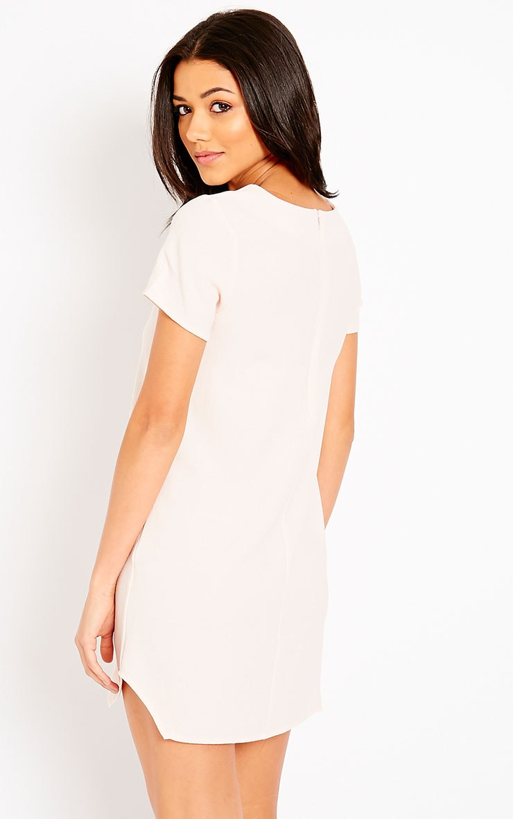 Jeni Baby Pink Crew Neck Shift Dress 2