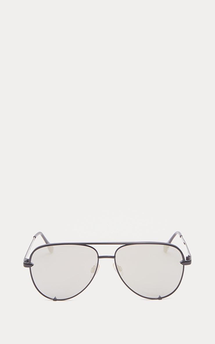 QUAY AUSTRALIA Silver X Desi High Key Aviator Sunglasses 2