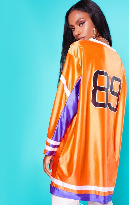KARL KANI Orange Baseball Dress 3