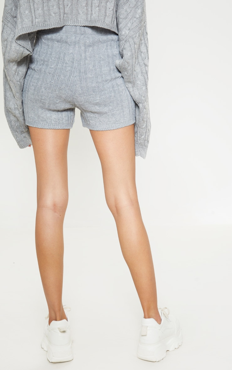 Grey Cable Knit Short 4