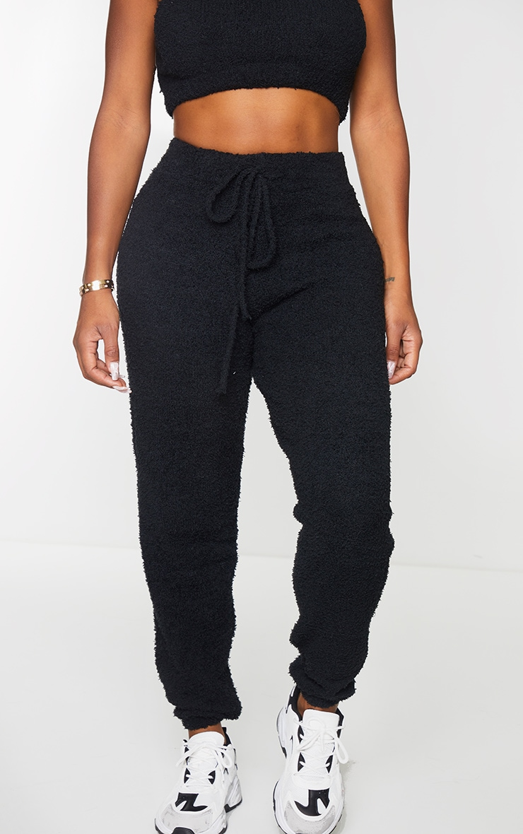 Shape Black Fluffy Knit Joggers 2