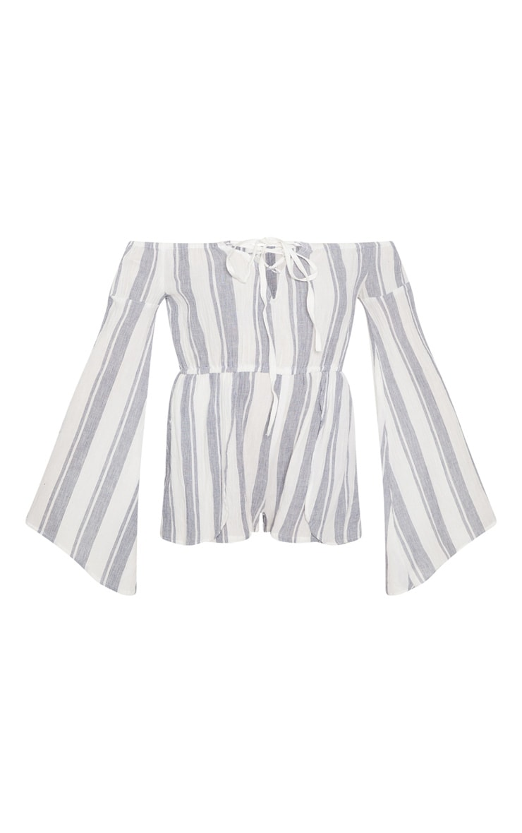 White Stripe Bardot Playsuit 3