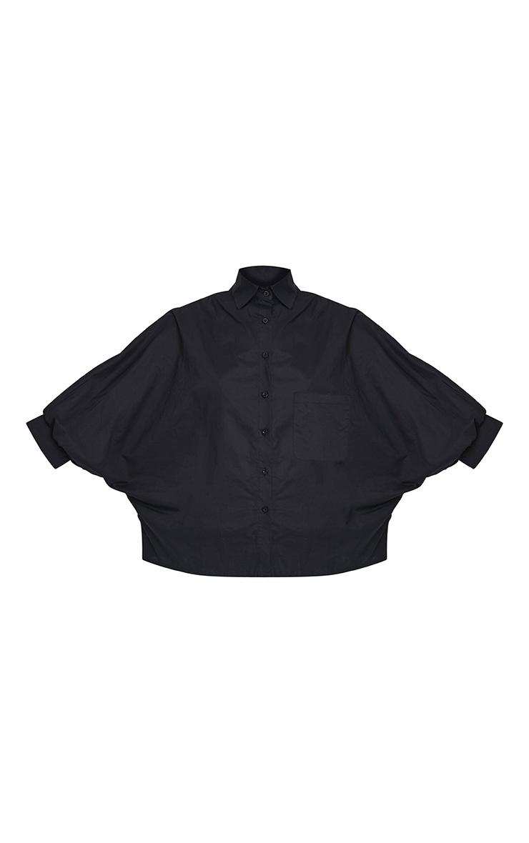 Ariane chemise noire manches chauve-souris 3